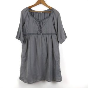 Old Navy Grey Tunic/Dress w Embroidered Detail, XS